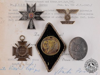 Bavaria Kingdom. The Awards and Personal Items of German Officer Dr. Lorenz Kuchtner,
