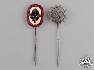 Germany. Two Miniature Stick Pins
