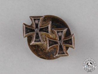 Prussia. An Iron Cross 1914 First and Second Class Boutonniere, by Godet & Sons