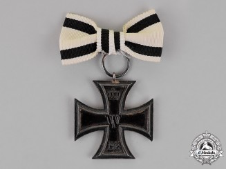 Prussia. An Iron Cross 1914 Second Class on a Non-Combatant's Ladies Ribbon