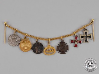 Austria. An Extensive Miniature Medal Chain Covering a Vast Time Period