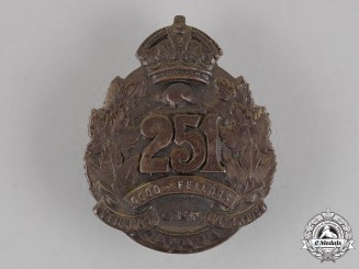 Canada. A Scarce Silver 251st Infantry Battalion Officer's Cap Badge, c.1917