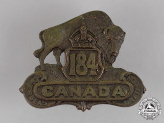 Canada. An 184th Infantry Battalion Cap Badge