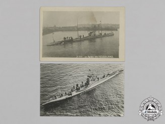 Germany (Imperial). Lot of Five First War U-Boat Postcards and Photograph