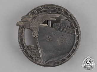 Germany. A Kriegsmarine Blockade Runner Badge by The Worker's Union of Gablonz
