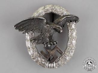 Germany. A Scarce Aluminum Version of an Observer's Badge, by C. E. Juncker