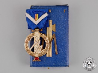 Italy, Fascist. A  National Fascist Party (PNF) Medal with Case