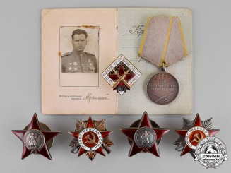 Russia, Soviet Union. An Artillery Officer's Award Group