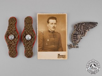 Hungary, Regency. A Miklós Horthy's Bodyguard's Insignia and Photo