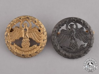 Austria. A Grouping of Two Tiroler Marksmanship Badges, Gold and Silver Grade