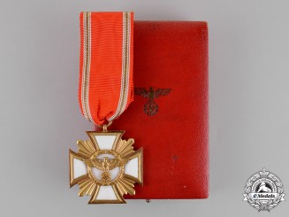 Germany. An NSDAP Long Service Award in Gold of 25 Years of Service, Cased