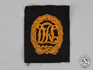Germany. A DRL Badge, Gold Grade, Cloth Version