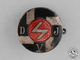 Germany. A DJ (German Youths) Membership Badge