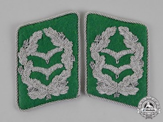 Germany. A Set of Luftwaffe Field Division Oberstleutnant's Collar Tabs