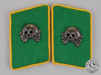 "Germany. A Scarce Set of ""Fallschirm-Panzer Korps Hermann Goering"" Reconnaissance Collar Tabs"
