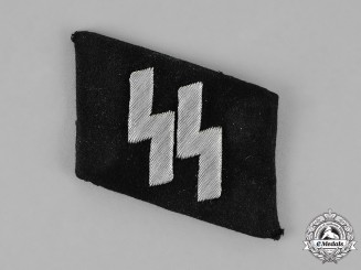 Germany. A Single SS NCO's Collar Tab, Officer's Quality