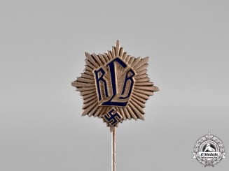 Germany. An RLB (Air Raid Protection League) Supporter's Stick Pin