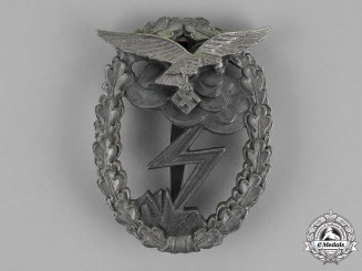 Germany. A Luftwaffe Ground Assault Badge by M.u.K. 5