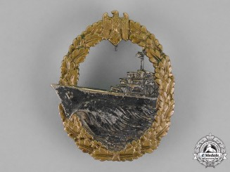 Germany. A Kriegsmarine Destroyer War Badge by Gebrüder Wegerhoff