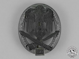 "Germany. A General Assault Badge, Special Grade ""50"", by Rudolf Karneth"