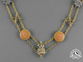 India, State of Patiala. An Order of Krishna Collar Chain, by Spink, c.1936