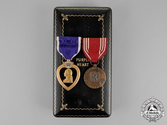 United States. A Purple Heart to Private First Class Butler, 66th Armored Regiment, KIA at the Battle of Aachen