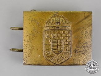 Hungary, Kingdom. A NCO's and Enlisted Belt Buckle