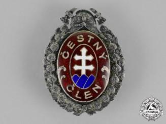 Czechoslovakia. A Fireman's Honor Badge, c.1935