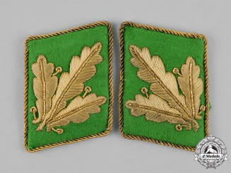 Germany. A Pair of SS-Police General Major's Collar Tabs