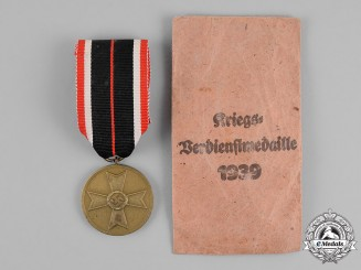 Germany. A War Merit Medal, in its Packet of Issue, by Richard Simm & Söhne