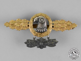 Germany, Luftwaffe. A Reconnaissance Unit Squadron Clasp, Gold Grade with Commemorative Hanger