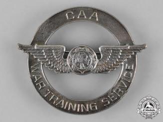 United States. A Civil Aeronautics Administration (CAA) War Training Service Cap Badge