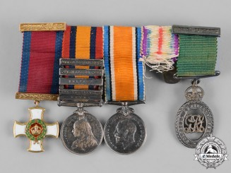 Great Britain. A Boer War and First War DSO Miniature Group of Four