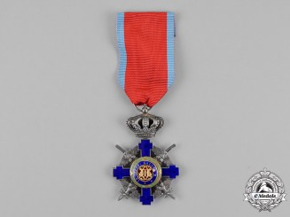 Romania, Kingdom. An Order of the Star, Knight, Military Division, Type II (1932-1947)
