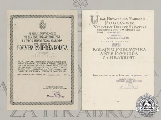 Croatia. A Pair of Award Documents to Grenadier August Kröger