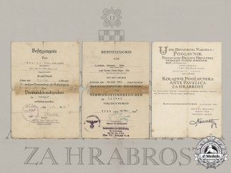 Croatia. A Rare Document grouping to Ivan Ožvanić, Croatian NCO, who Served in Russia and Later in Yugoslavia