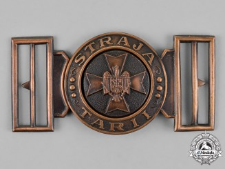 "Romania, Kingdom. Belt Buckle of the Romanian Youth Organization ""Straja Tarii"""