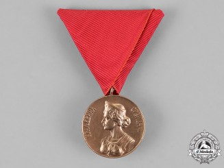 Serbia, Kingdom. A Golden Bravery Medal 1912