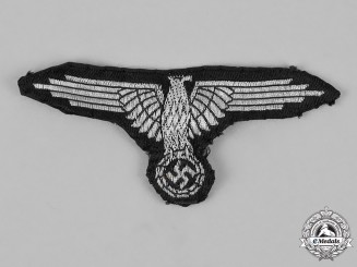 Germany. SS Officer's Flatwire Sleeve Eagle, Tunic Removed