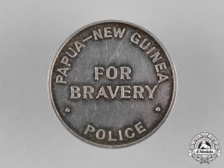 Papua New Guinea. A Native Police Valour Badge 1940-1964