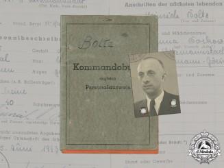 Germany, SS. A Kommandobuch to SS-Hauptsturmführer Heinrich Boltz of Volksdeutsche Mittelstelle