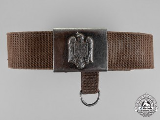 Romania, Republic. An Army Belt with Buckle,