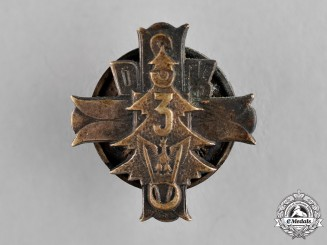 Poland, Republic. A 3rd Carpathian Rifle Division Lapel Badge, c.1945