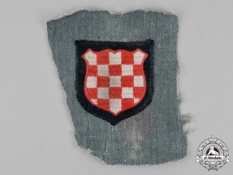 Germany. A Waffen-SS Croatian Volunteer's Sleeve Shield