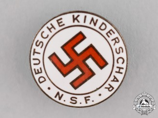 "Germany, NSF. A ""Women's League with German Children"" Membership Badge by Steinhauer & Lück"