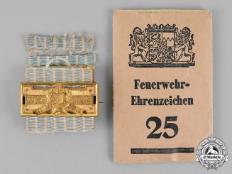Bavaria, Kingdom. A 25-Year Fire Brigade Long Service Decoration