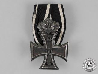 Germany, Empire. An 1870 Iron Cross Second Class with 25 Years Jubilee Spange