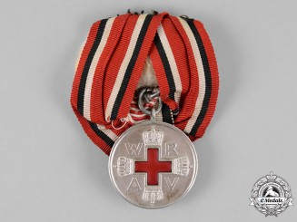 Prussia, State. A Red Cross Medal Second Class, Mounted.