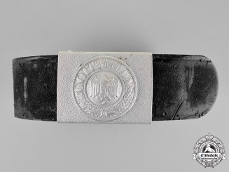 Germany, Heer. An EM's Belt and Belt Buckle; Brought back by Ranger James Kerr