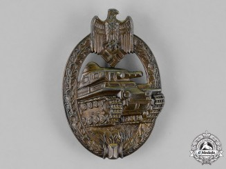 Germany, Wehrmacht. A Tank Badge, Bronze Grade, by Adolf Scholze